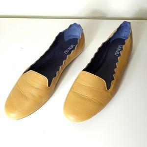 VANELi Bibbie Beige Leather Flats Size 10 M